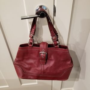 Coach burgundy purse